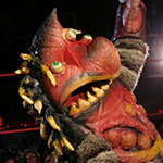 monster wrestling