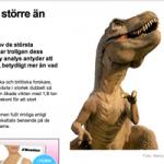 Tyrannosaurus Rex: från grå, stor och kallblodig till varmblodig och enorm