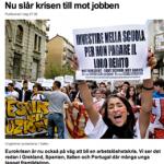 finanskrisen och arbetslösheten