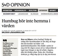 Healing och homeopati inom svensk vård