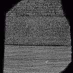 Rosettastenen – högupplöst foto – nyckeln till Egyptens historia