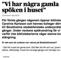 Stockholms stadsbibliotek spökvandring