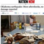Jordbävning slår lokalt rekord i Oklahoma
