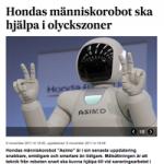 Hondas människorobot kan sanera i Fukushima