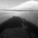 Mars –Curiosity skickar foton av Mount Sharp